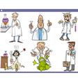 Scientists characters cartoon set vector