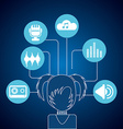 Avatar music icons vector