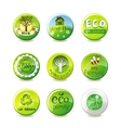 Glass eco badges vector