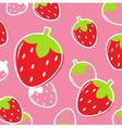 Strawberry fruit pattern vector