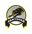 Panther big cat growling vector