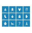 Christmas icons on blue background vector