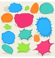 Colorful different speech bubbles eps8 vector