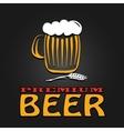 Premium beer mug barley vintage design poster vector