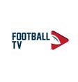 Football tv vector