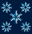 Origami people snowflakes vector