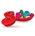 3d sale text vector