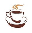 Hot cup of steaming coffee or tea vector