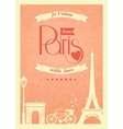 Love paris vintage retro poster vector