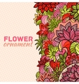 Abstract ornament flower background concept vector