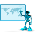Blue robot and screen vector