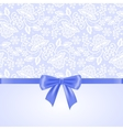 White lace and ribbon bow vector