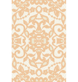 Beautiful floral beige lace vector
