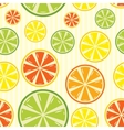 Seamless background with lemon lime orange and vector
