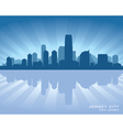 Jersey city new jersey skyline silhouette vector