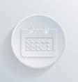 Circle flat icon with a shadow calendar vector