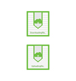 Cloud download and upload icon 6 vector