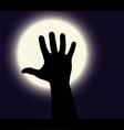 Halloween hand vector