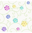 Background with flowers and curls vector