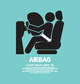 Airbag car safety equipment vector