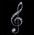 Diamond treble clef vector