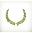 Laurel wreath green vector