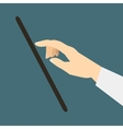 Flat design style icon hand presses the select vector