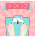 Healthy diet weight poster vector