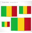 Mali flag template vector