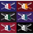 Set of vintage baseball crests vector