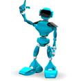 Blue robot 2 vector