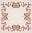 Rose pink floral pattern vector