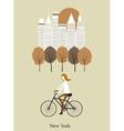 Girl on a bicykle vector