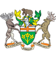 Ontario province coat-of-arms vector