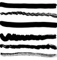 Brush blot on white background vector