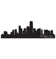 Jersey city new jersey skyline detailed silhouette vector