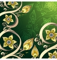 Decorative floral background with flowers retro vector