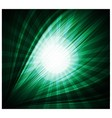 Abstract green background beautiful rays of light vector