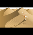 Desert with tree vector