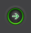 Circle dark glossy arrow button vector
