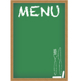 Menu card chalkboard vector