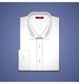 Classic white shirt vector