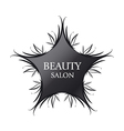 Logo black star for fashion vector