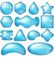 Icons buttons blue set vector