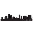 Atlantic city new jersey skyline detailed silhouet vector