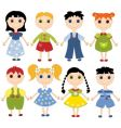 Cartoon children set vector