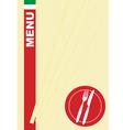 Menu card pasta vector