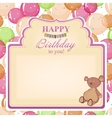 Childrens congratulatory background with a vector