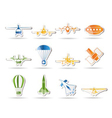 Aircraft s and icons vector
