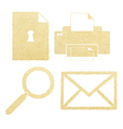 Office paper icon set vector